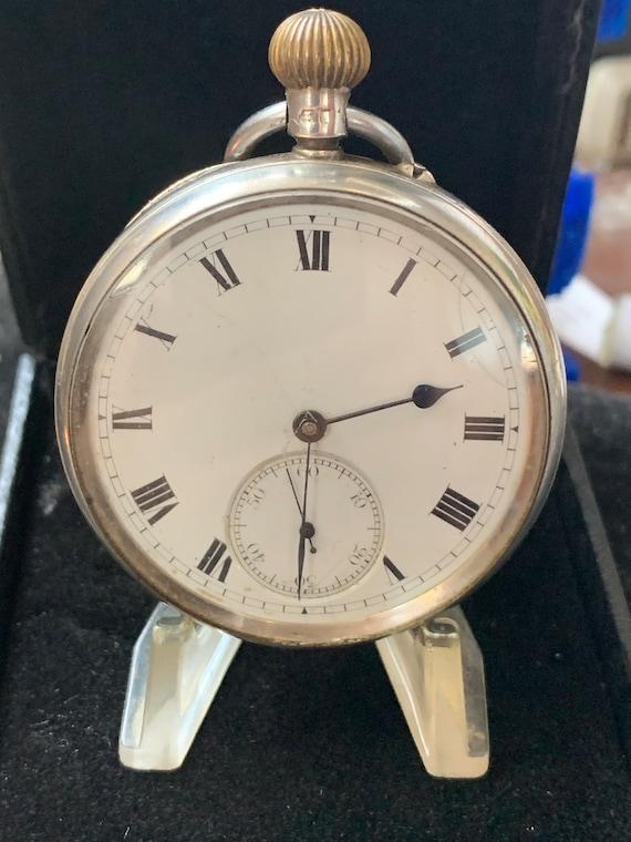 Antique Silver Open Face Pocket Watch Goldsmiths &
