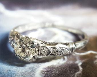 Vintage 1930s Art Deco Diamond Engagement Ring