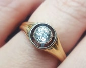 Vintage 1920s Art Deco Diamond Engagement Ring