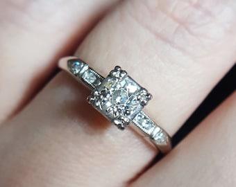 Vintage 1930s Art Deco Diamond Engagement Ring Vintage Engagement Ring Art Deco Engagement Ring Vintage Ring Diamond Ring Art Deco Ring