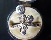 Antique Engagement Ring Antique Ring Edwardian Engagement Ring Edwardian Ring Diamond Engagement Ring Old Mine Cut Diamond Ring 1910s Ring