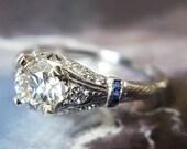 Edwardian Diamond Engagement Ring Vintage Engagement Ring Antique Engagement Ring Vintage Ring Antique Ring Edwardian Ring - 1910s, Platinum