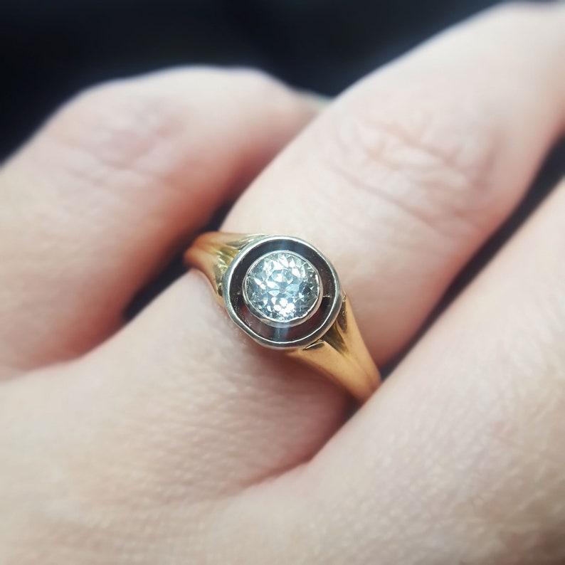 Vintage 1920s Art Deco Diamond Engagement Ring image 0