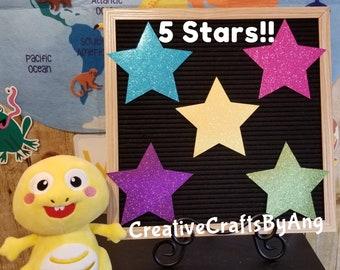 5 Glitter Stars - VIPKID