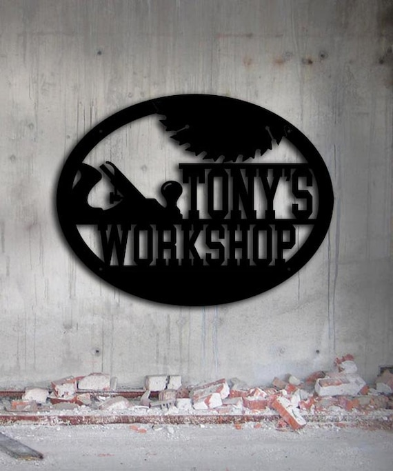 Custom Metal Signs Workshop Woodworker Shop Sign Metal Wall Art Personalized Metal Sign 2