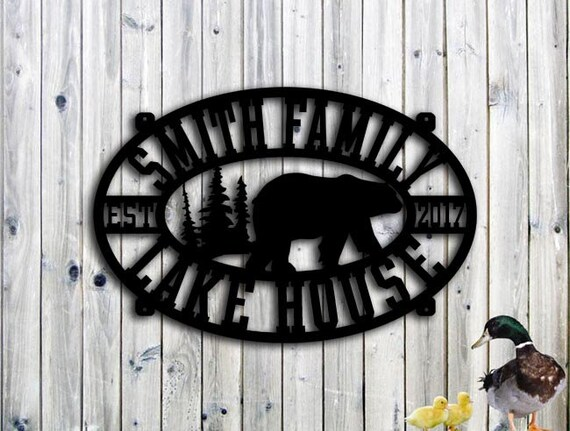 Lake House Sign - Personalized Custom Metal Signs, Catfish, Bass, Walleye,  Loons - Steel Sign - Large Sign (30w x 20h) Metal Sign Custom