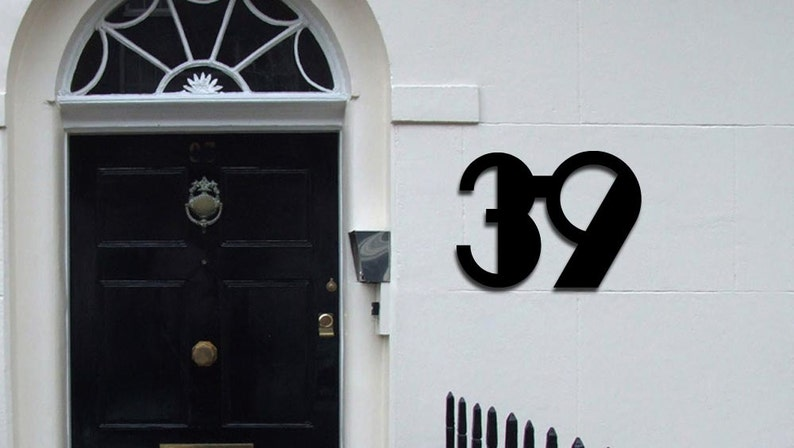 Two Large Art Deco House Numbers , 6 Inch Numbers
