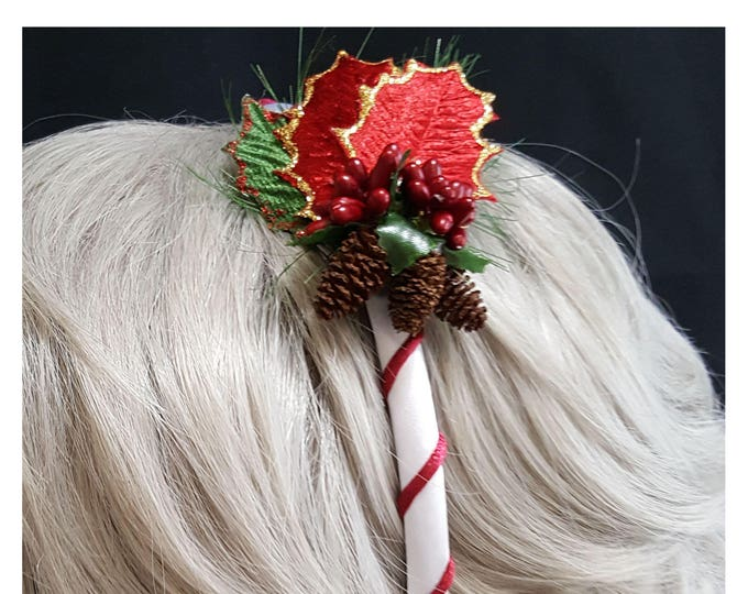 Christmas Purple Berries Headband