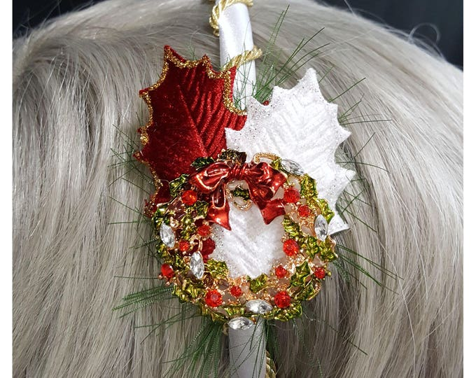 Christmas Wreath Headband