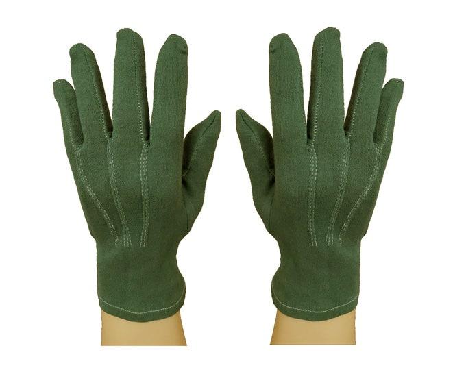 Santa gloves green cotton men's size 1X