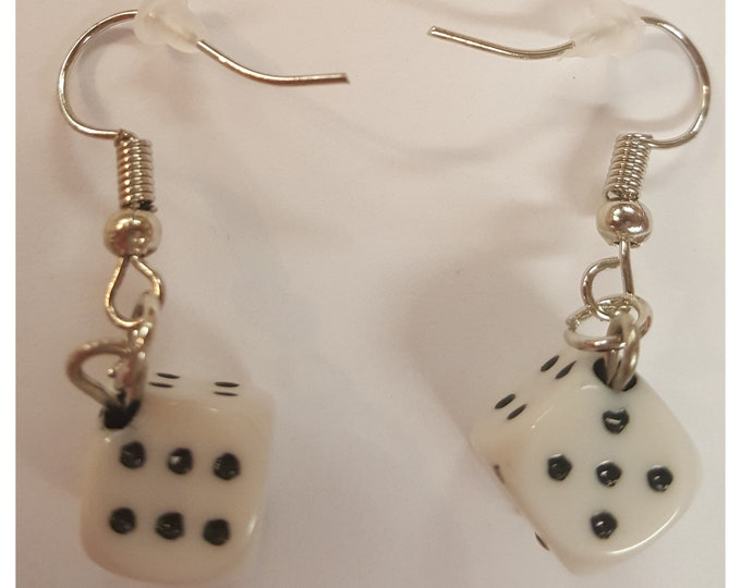 Mini Dice pierced earrings