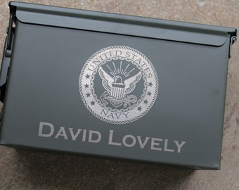 Personalized Ammo Can Groomsmen Gift Box Birthday Military Christmas
