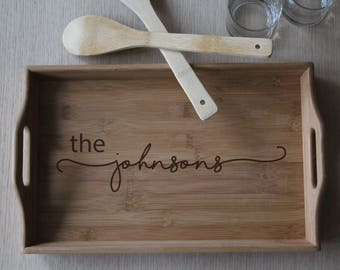 3ed7dc2831d Personalized Serving Tray for Kitchen or Bar