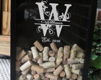 Personalized Wine Cork Holder