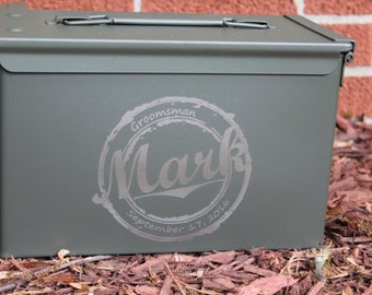 Ammo Box - Personalized Custom, Mens Christmas Gift, Brother, Dad, Grandpa, Outdoor gift, Adventure box