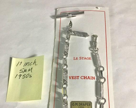 1950s Pocket Watch Chain 11 inches 5mm Unworn