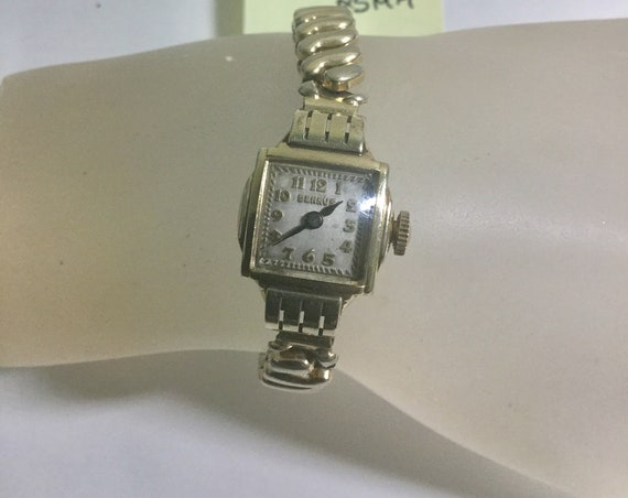 1940s Benrus Ladys Hand Wind Gold Filled Wristwatch 17mm by 25mm
