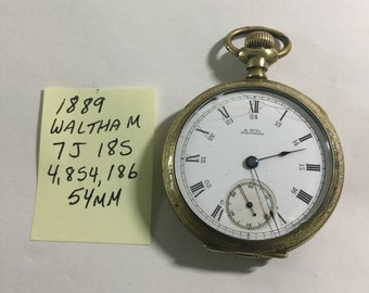 Responsible Antique 14k Yellow Gold Waltham 15 Jewels Pocket Watch 43 Mm Rare Find The Latest Fashion Pocket Watches Watches, Parts & Accessories