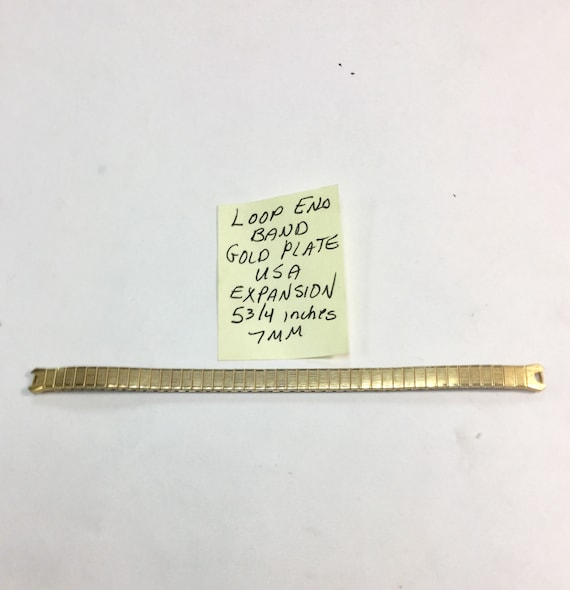 1960s Ladys Loop End Expansion Band Gold Plate USA