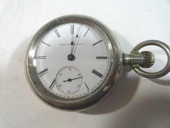 1878 Elgin Pocket Watch GM Wheeler 13 Jewel Running Size 18 58mm