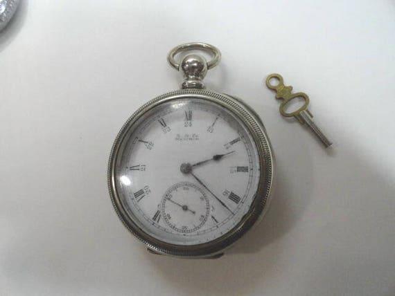 1889 American Waltham Broadway Model Key Wind Key Set Pocket Watch 18 Size 57mm