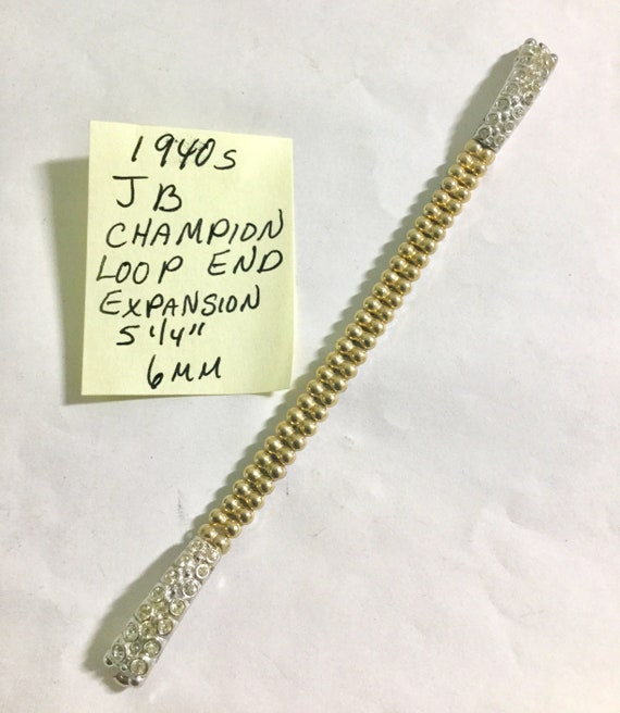 1940s Ladys Loop End Expansion Band JB Champion Gold Filled 5 1/4 inches 6mm