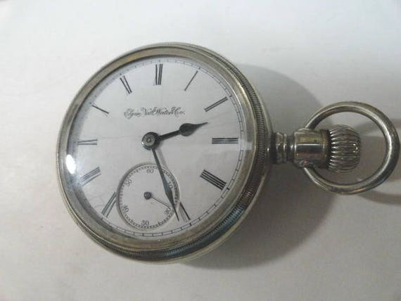 1888 Elgin Pocket Watch 7 Jewel 18 Size Swing Out Movement 55mm