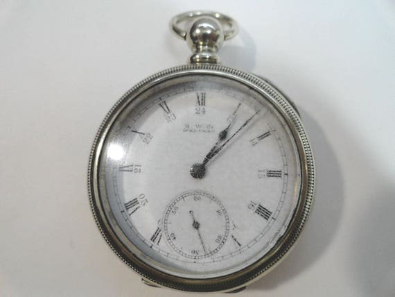 1889 Waltham Broadway Key Wind Key Set 7 Jewel Pocket Watch 18 Size