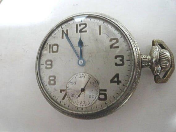 1911 Waltham Pocket Watch 17 Jewel Movement Running Size 16 48mm