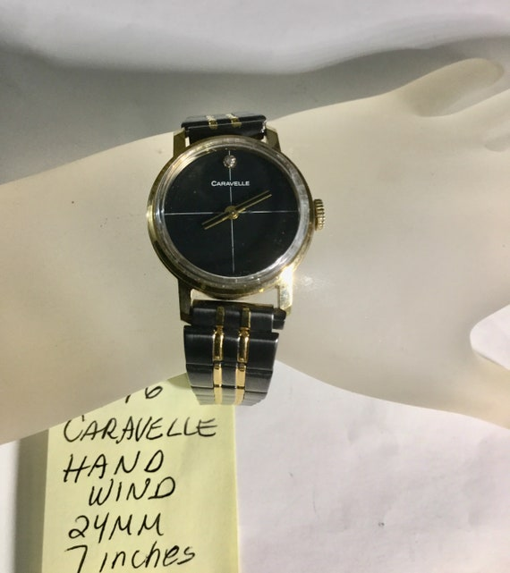 1976 Caravelle Hand Wind Wristwatch 24mm 7 inches long