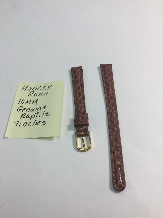 1980s Hadley Roma Reptile Ladys Watch Band 10mm 7 inches Never Worn