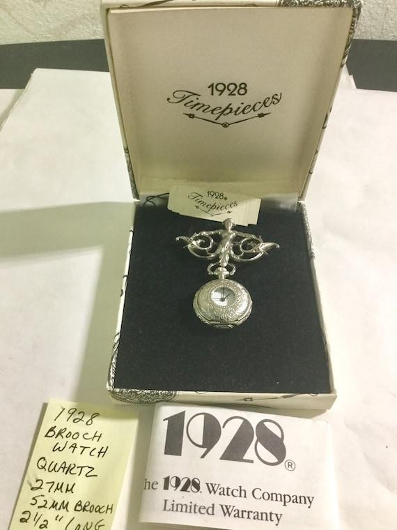 1990s Brooch Watch 1928 Quartz Watch 27mm Brooch 52mm 2 1/2 inches Long