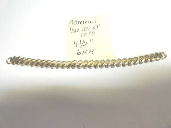 Vintage Admiral Gold Filled Expansion Band 4 1/2 Inches Long 6mm
