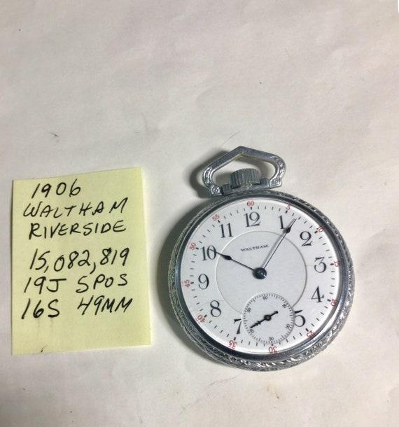 1906 Waltham Pocket Watch Riverside 19J 16S 49mm