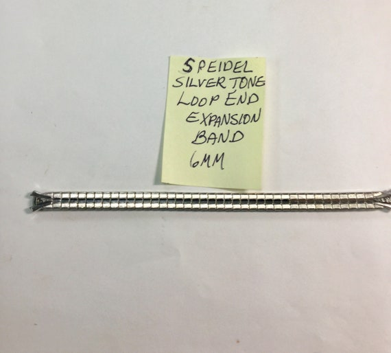 1960s Speidel Silver Tone Loop End Expansion Band 6mm 5 inches