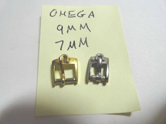 Vintage Omega Ladys Wristwatch Band Buckles 9mm, 7mm