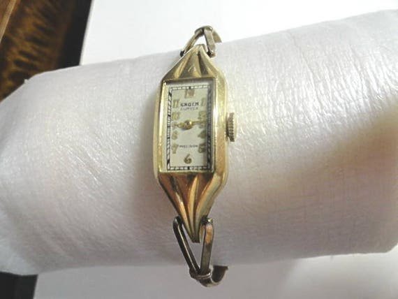 Vintage 1930s Ladys Gruen Curvex Gold Filled Watches For Parts or Repair 2 Pieces