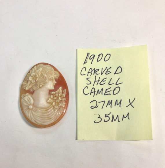 1900 Hand Carved Shell Cameo High Quality 27mm by 35mm