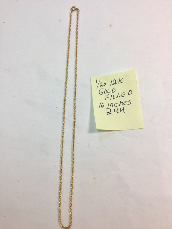 1960s Gold Filled Chain 16 inches 2mm