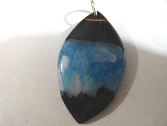 Agate Pendant Natural Stone  Polished and Ready to Wear 1 1/2 inches by 2 1/2 inches