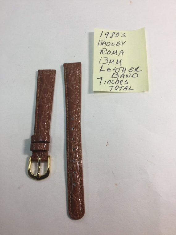 1980s Hadley Roma 13mm Leather Band 7 inches Total Length