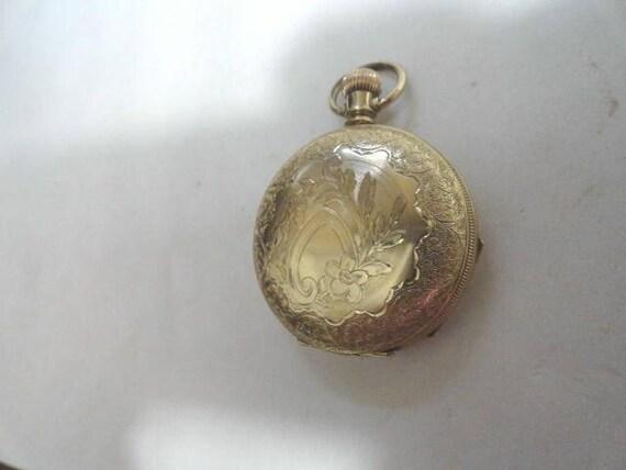 1891 Elgin Hunting Case Pocket Watch Nice Gold Filled Case 41mm 14 Size