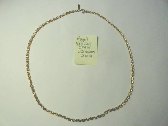 1970s Roget Sears Gold Filled 22 Inch 2mm  Chain 13 Grams 1/20 12K