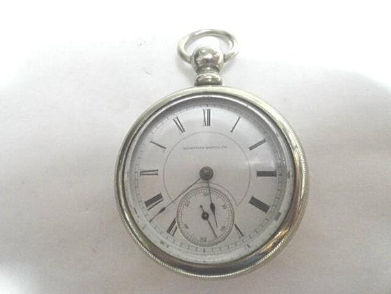 1886 Hampden KW KS Pocket Watch 15 Jewel 56mm 18S Running