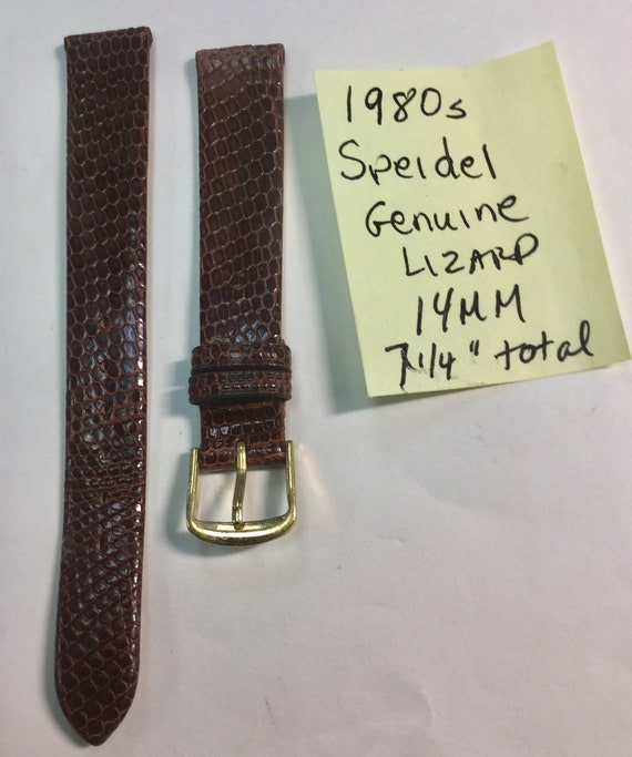 1980s Speidel Genuine Lizard 14mm Ladys Watch Band 7. 1/4 inches total