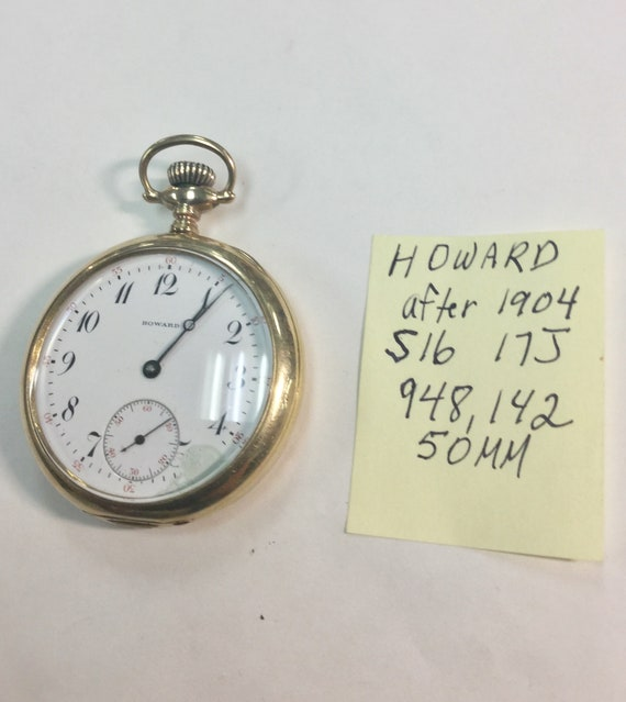 Howard Pocket Watch After 1904 17J 50mm Gold Filled  Howard  Case Running