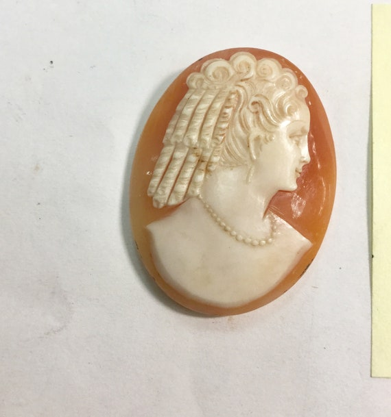 1860s Hand Carved Shell Cameo Nice Qualiy 27mm by 35mm