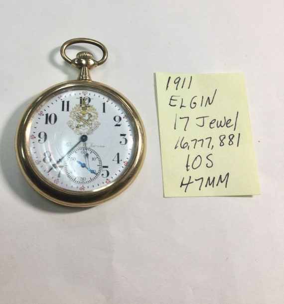 1911 Elgin Gold Filled Pocket Watch 17 Jewel 10S 47mm Running