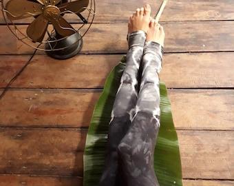 Cindergy Leggings/ Tie Dye Yoga Leggings/ Big waist band leggings/Tribal Leggings/ Shibori Leggings/ Festival leggings/ Leggings