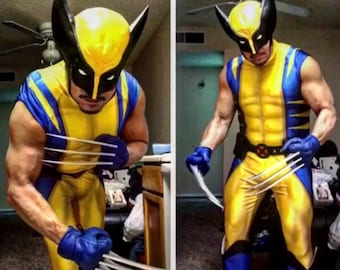c3e8b10570e3b6 WOLVERINE bodysuit / mens boys cosplay costume